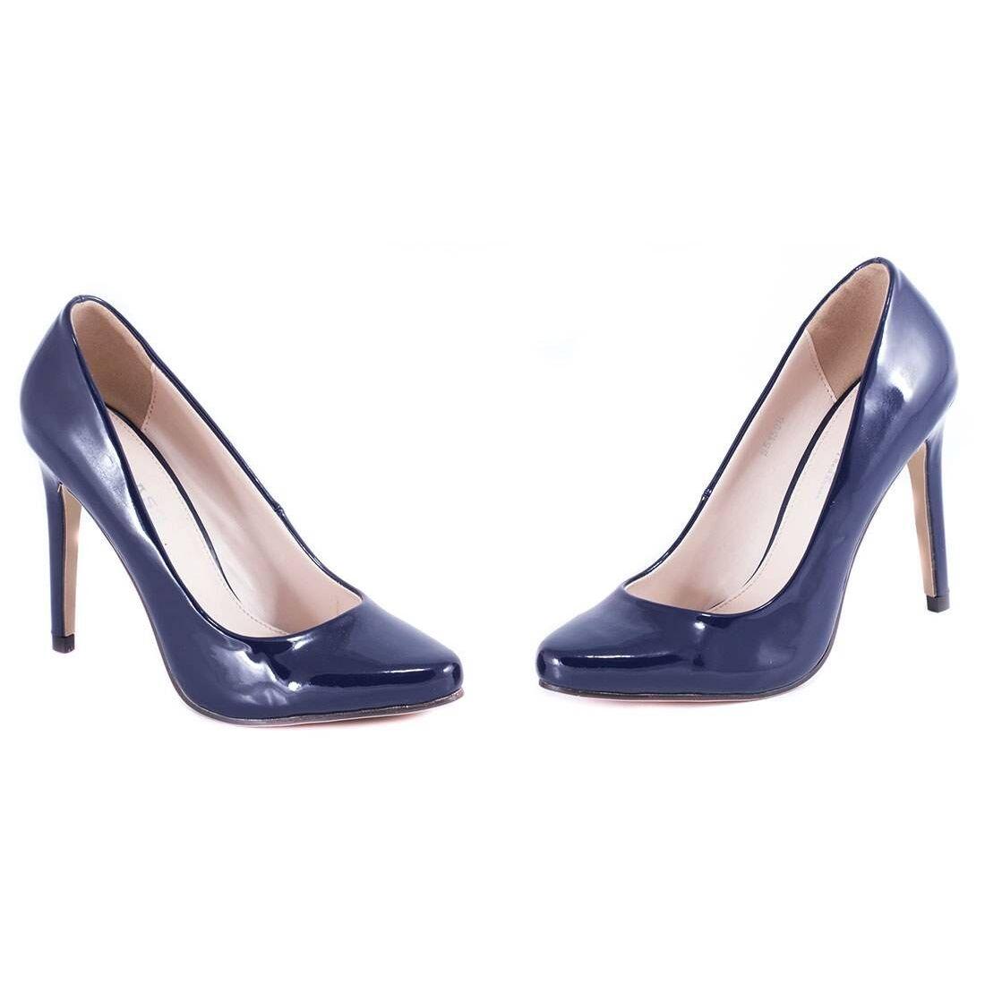 Pantofi de dama cu toc B123-ROSU la 39,99Lei - Zibra.ro