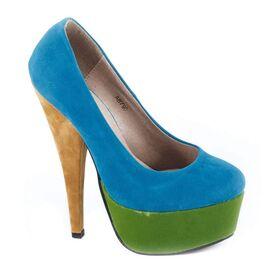 Pantofi cu platforma AB790 - Albastru