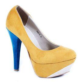 Pantofi cu platforma S080-1E - Yellow