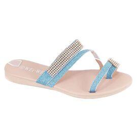 Papuci albastri de dama P305A