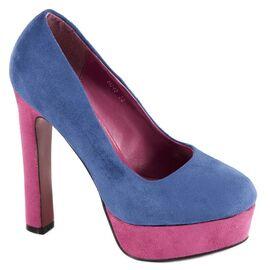 Pantofi albastri cu platforma H048A