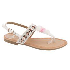 Sandale dama albe PM907-16A, Marime: 39, imagine