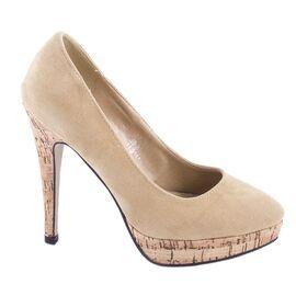 Pantofi de dama cu platforma M-34-4BEJ