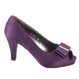 Pantofi dama cu fundita A759PURPLE