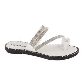Papuci de dama comozi P1620-ALB