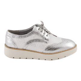 Pantofi dama cu siret 7-890-SILVER