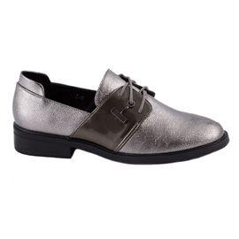 Pantofi de dama comozi cu siret L-5-PEWTER, Marime: 40, imagine