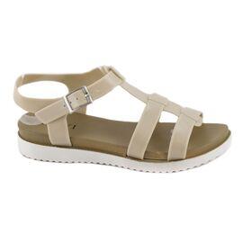 Sandale de dama din cauciuc 668-BEJ, Marime: 36, imagine