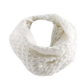 Fular dama tip burlan SY-3995-ALB, imagine