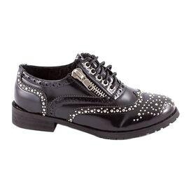Pantofi dama casual cu tinte 36-M42267B-NEGRU, Marime: 39, imagine