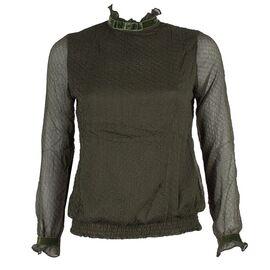 Bluza dama cu maneci transparente GB-406-K