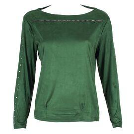 Bluza de dama verde cu maneca lunga GB-354-V