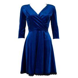 Rochie dama albastra in clos VM-11124-A