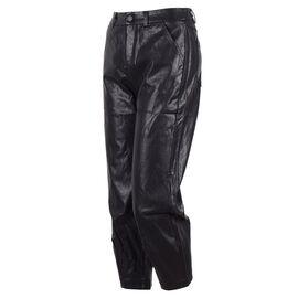 Pantaloni dama 3/4 negri din vinil PEC-152-N