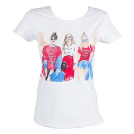 Tricou de dama alb TR-316-A