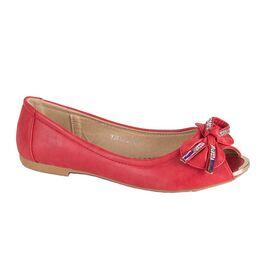 Balerini dama rosii accesorizati cu funda YJ816-3-R