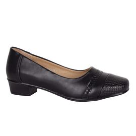 Pantofi de dama negri cu toc mic 33590-N