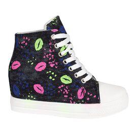 Sneakers dama din denim negru 2903-N, Marime: 40, imagine