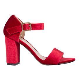 Sandale de dama cu toc gros rosii 10G201-6SG-R, Marime: 36, imagine