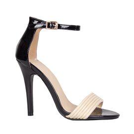 Sandale dama elegante negre 3W14273-A64-N/B, Marime: 38, imagine