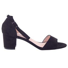 Sandale dama negre din catifea 947-1-BLACK, Marime: 35, imagine