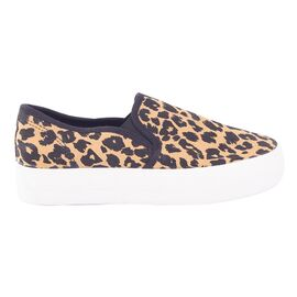 Espadrile dama animal print 2002-BLACK-YELLOW, Marime: 37, imagine