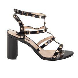 Sandale dama cu toc inalt, barete si tinte MW3A3488-1 BLACK, Marime: 38, imagine