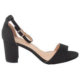 Sandale dama negre cu glitter A891 BLACK, Marime: 37, imagine