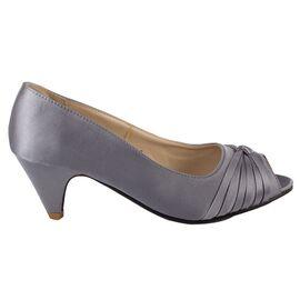 Pantofi de dama gri cu toc mic A2071-GRAY, Marime: 37, imagine