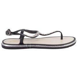 Sandale dama comode WS125-BLACK+SILVER, Marime: 37, imagine