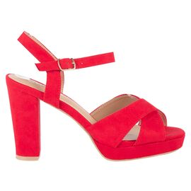 Sandale dama cu toc inalt si platforma 3370-6-RED, Marime: 37, imagine