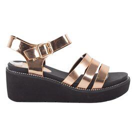 Sandale dama cu platforma 9330-1-CHAMPAGNE, Marime: 37, imagine