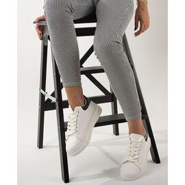 Pantofi de dama sport casual G330-3-WHITE/BLACK, Marime: 37, imagine
