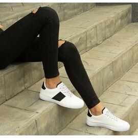 Pantofi de dama sport casual BO-251-WHITE/BLACK, Marime: 37, imagine