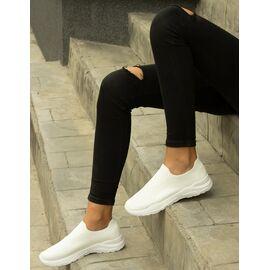 Sneakers dama din material elastic FZ13-WHITE, Marime: 41, imagine
