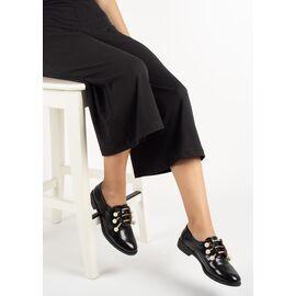 Pantofi dama negri cu accesorii din perle si strasuri 2328A-BLACK, Marime: 38, imagine