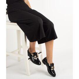 Pantofi dama negri cu accesorii din perle 2403-BLACK, Marime: 39, imagine