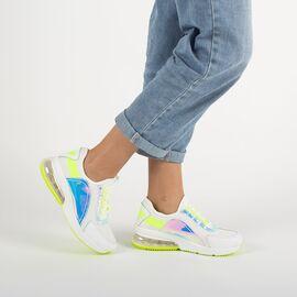 Pantofi de dama sport casual F-3336-WHITE-YELLOW, Marime: 39, imagine