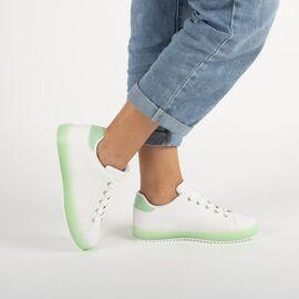 Pantofi de dama sport casual A68-7-BLANCO/VERDE, Marime: 37, imagine