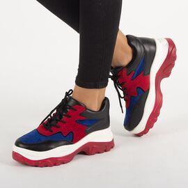 Sneakers de dama cu platforma E3260-R, Marime: 40, imagine