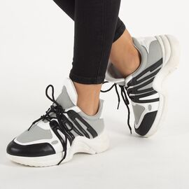Pantofi dama sport cu siret ZH-10-G/B, Marime: 39, imagine
