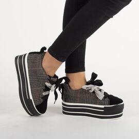 Sneakers dama cu platforma CD-2-BLACK, Marime: 37, imagine