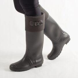 Cizme de dama pentru ploaie, gri, din cauciuc H083-GRIS, Marime: 39, imagine