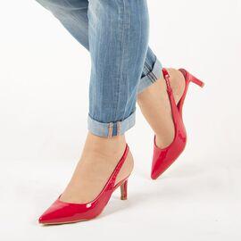Sandale de dama, rosii, lacuite, cu toc mediu HD-178-RED, Marime: 35, imagine