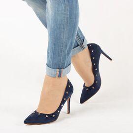 Pantofi de dama, bleumarin, stiletto cu tinte JM2603F-AZUL-MARINO, Marime: 35*, imagine