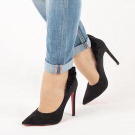 Pantofi de dama, negri, eleganti, cu toc inalt JM8128Y-NEGRO, Marime: 35, imagine
