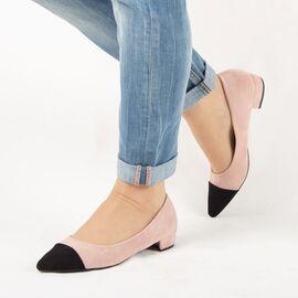 Pantofi de dama, roz, cu talpa joasa si comoda Q507-PINK, Marime: 36, imagine
