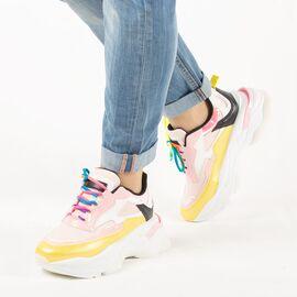 Pantofi de dama, sport - casual, cu siret 20108RS-ROSA, Marime: 36, imagine