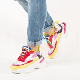 Pantofi de dama, sport - casual, cu siret 20108AM-AMARILLO, Marime: 36, imagine