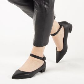Pantofi de dama, negri, cu talpa joasa si comoda Q508-BLACK, Marime: 36, imagine